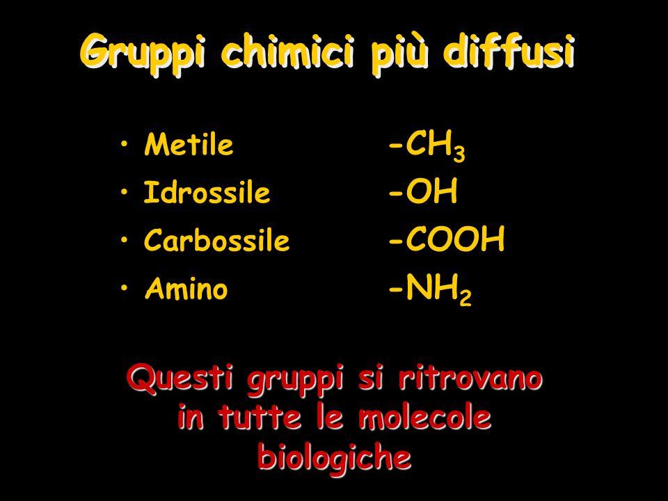 Gruppi chimici più diffusi