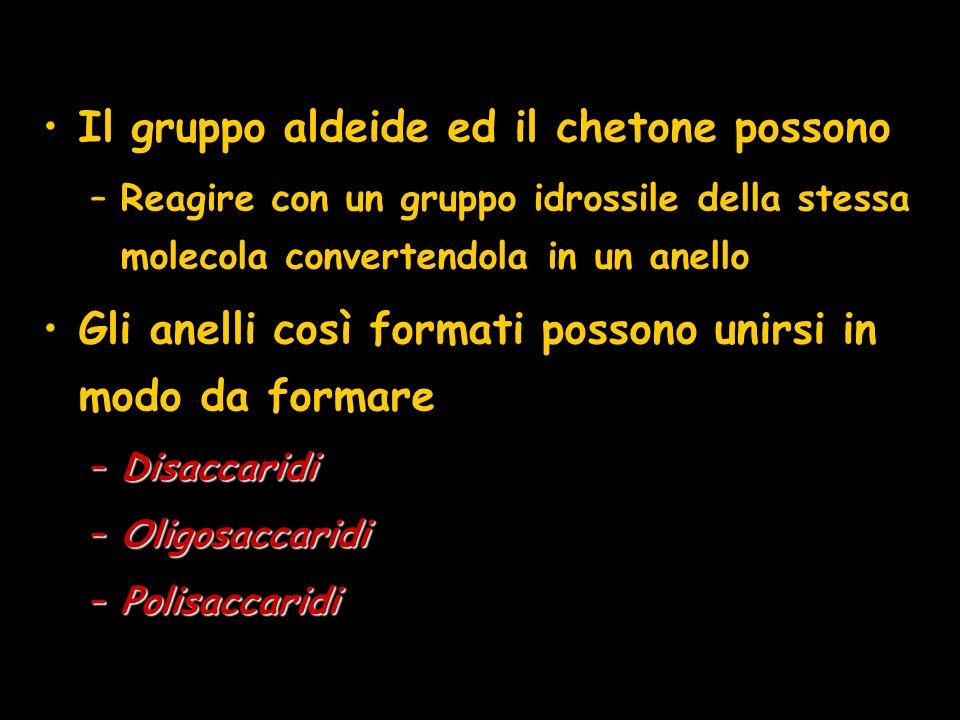 Il gruppo aldeide ed il chetone possono