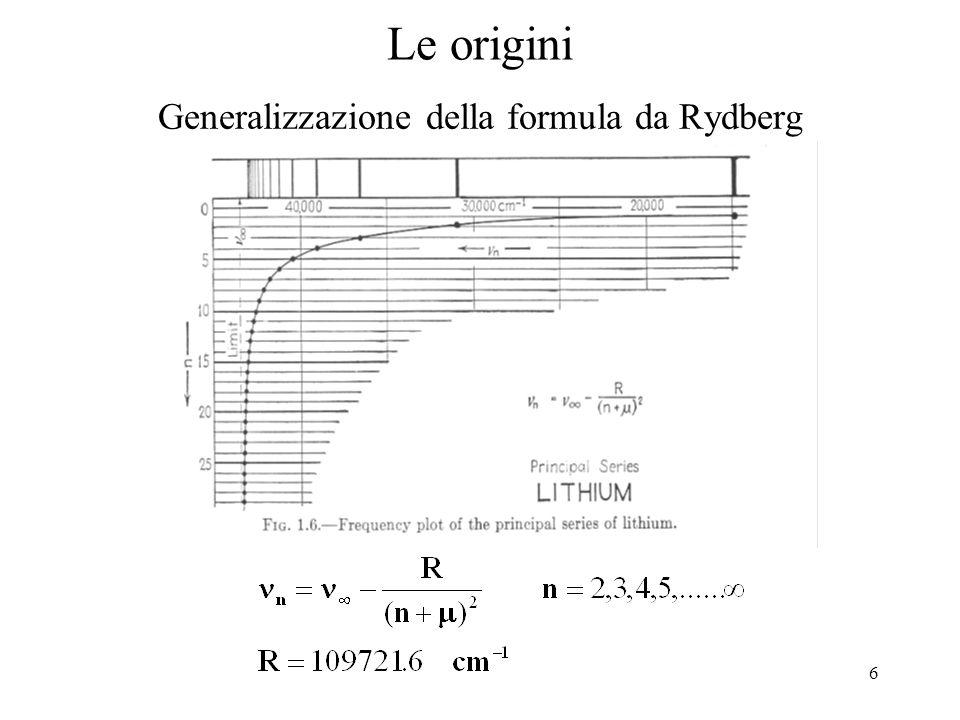 Generalizzazione della formula da Rydberg