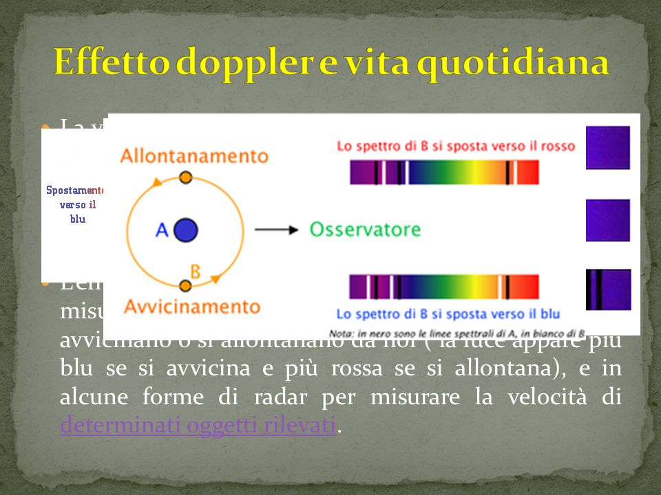 Effetto doppler e vita quotidiana