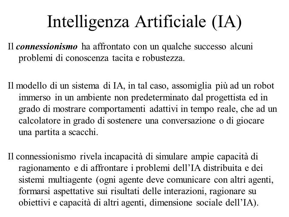 Intelligenza Artificiale (IA)