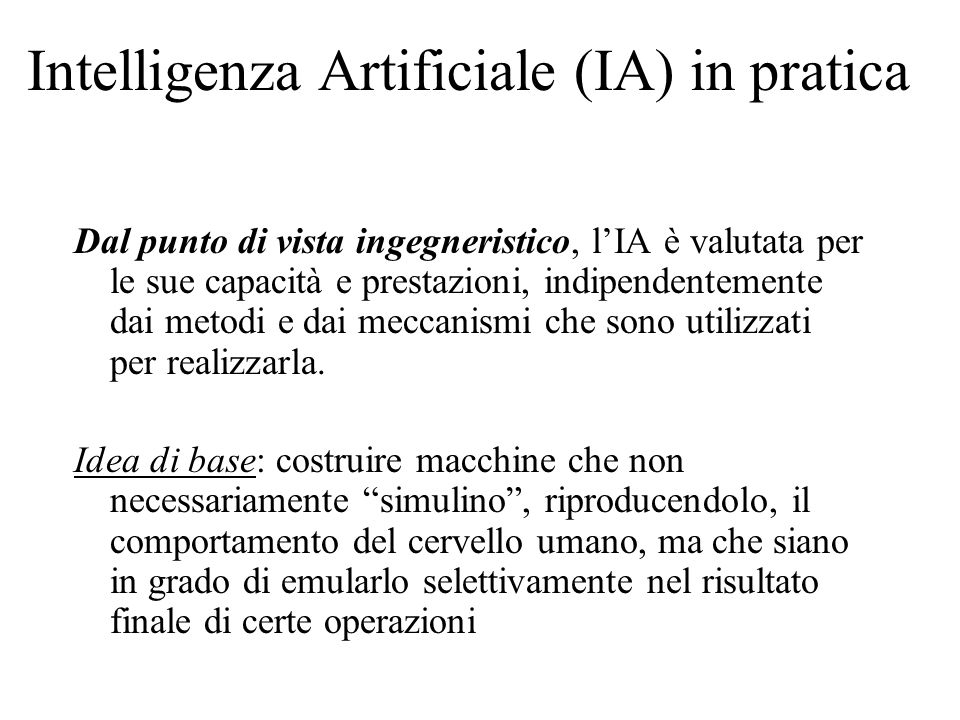 Intelligenza Artificiale (IA) in pratica