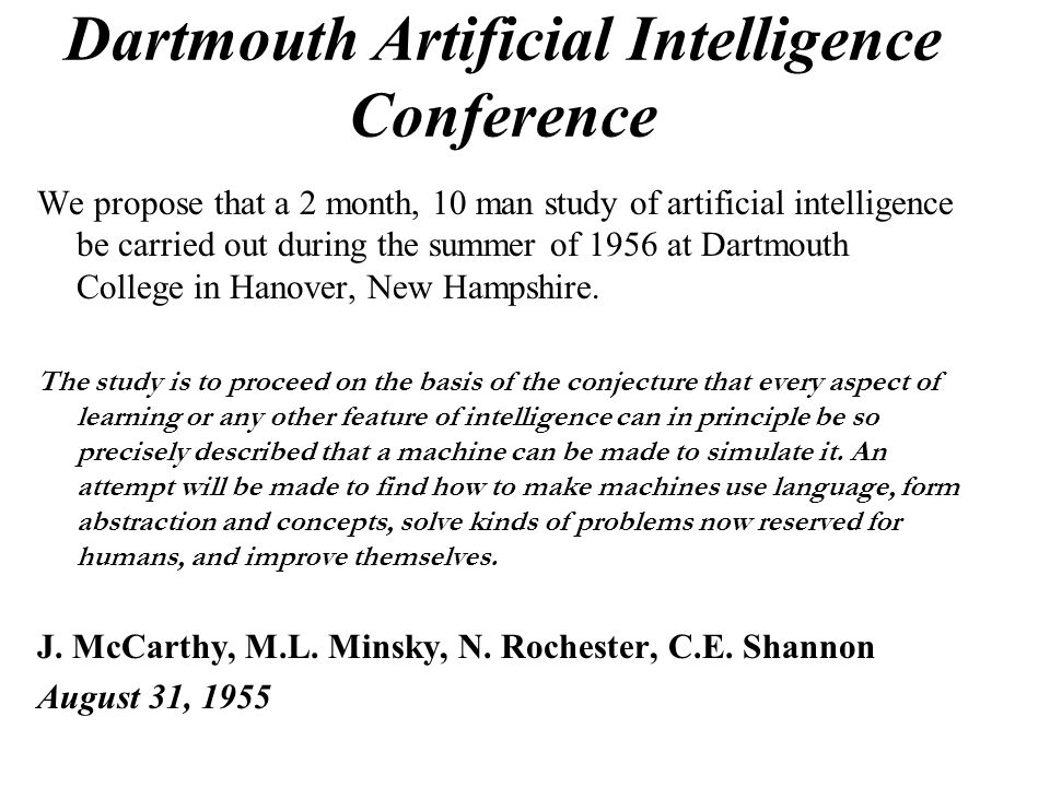 Dartmouth Artificial Intelligence Conference