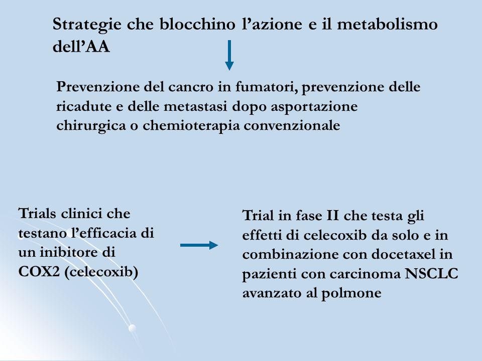 Strategie che blocchino l'azione e il metabolismo dell'AA