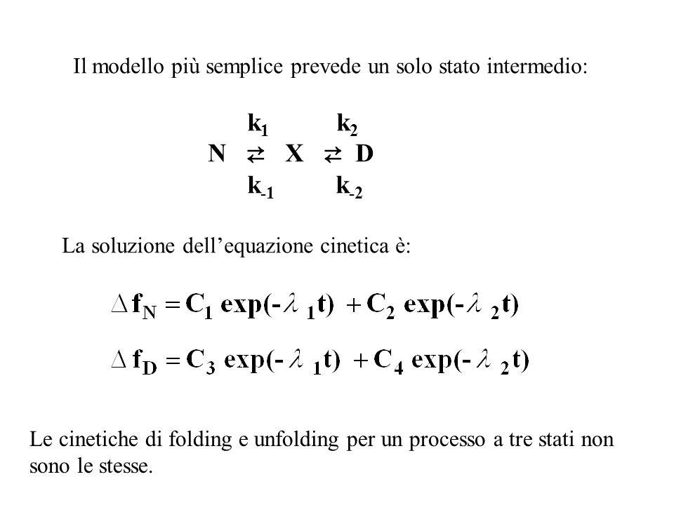 Il modello più semplice prevede un solo stato intermedio: