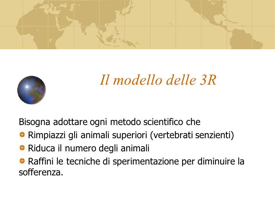 Il modello delle 3R Bisogna adottare ogni metodo scientifico che