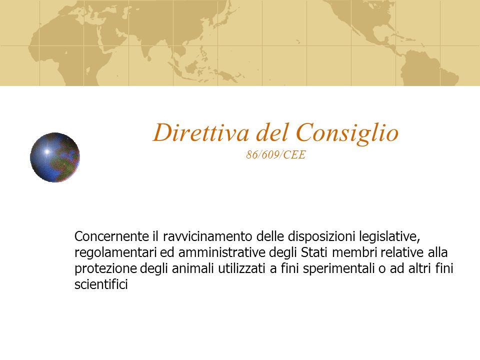 Direttiva del Consiglio 86/609/CEE