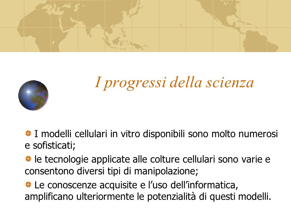 I progressi della scienza
