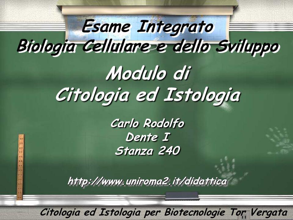 Modulo di Citologia ed Istologia