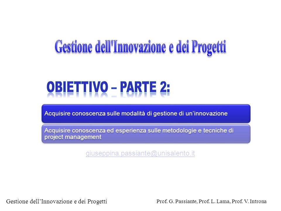 Gestione dell Innovazione e dei Progetti