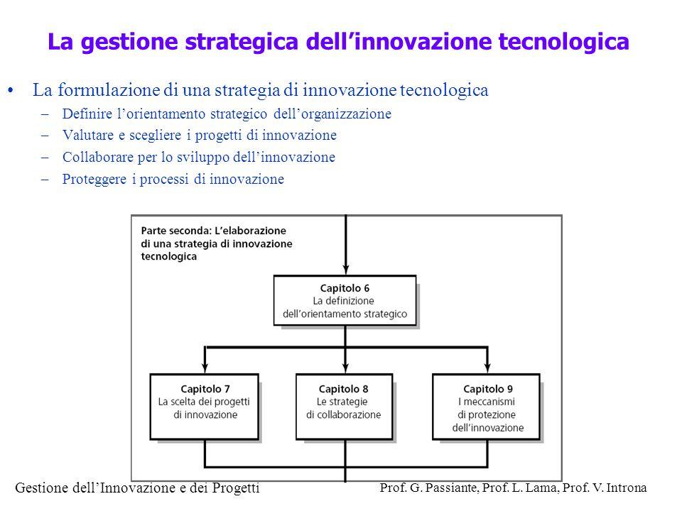La gestione strategica dell'innovazione tecnologica