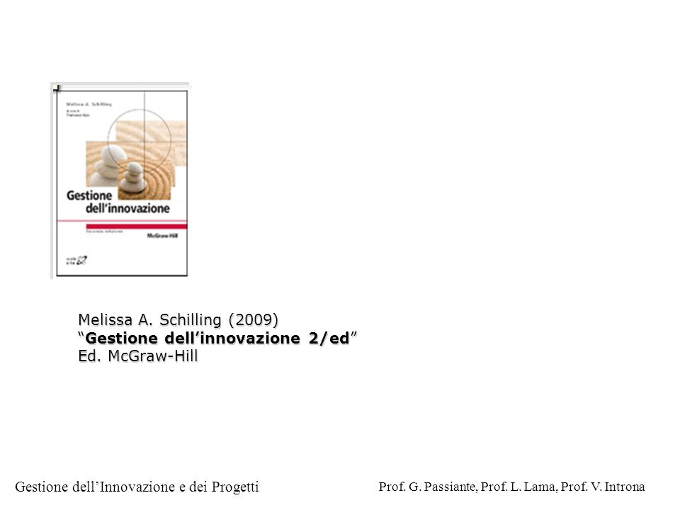 Melissa A. Schilling (2009) Gestione dell'innovazione 2/ed Ed. McGraw-Hill