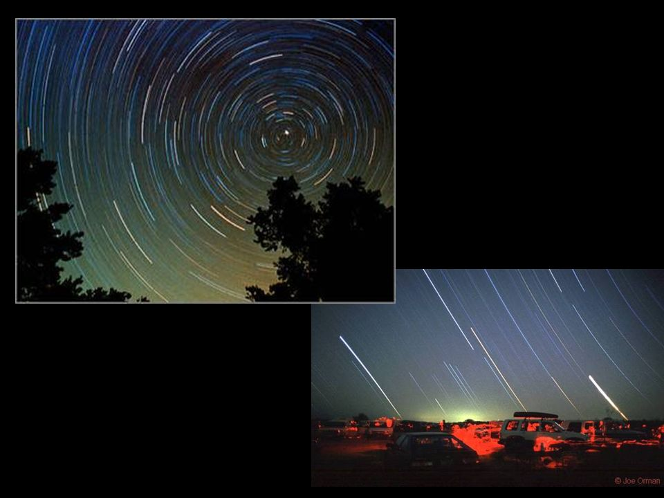 Here we can see some actual pictures of star trails for a mid-northern latitude.