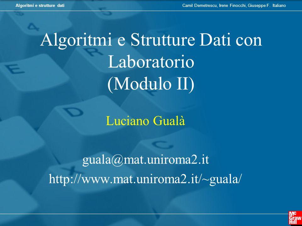 Algoritmi e Strutture Dati con Laboratorio (Modulo II)