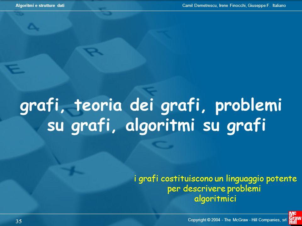 grafi, teoria dei grafi, problemi su grafi, algoritmi su grafi