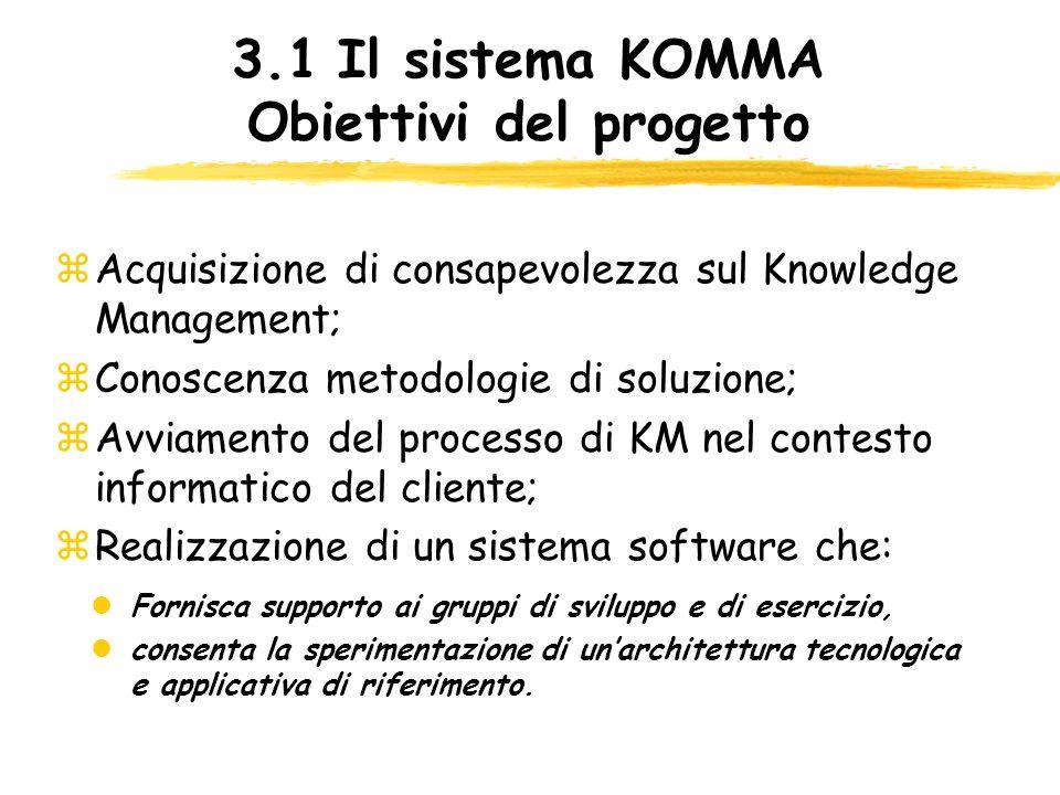 3.1 Il sistema KOMMA Obiettivi del progetto