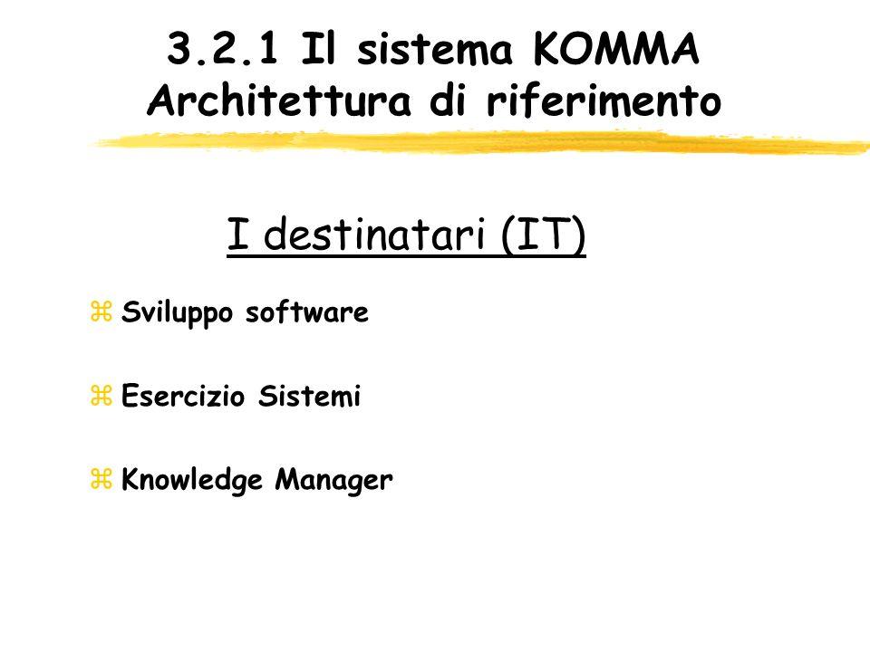 3.2.1 Il sistema KOMMA Architettura di riferimento