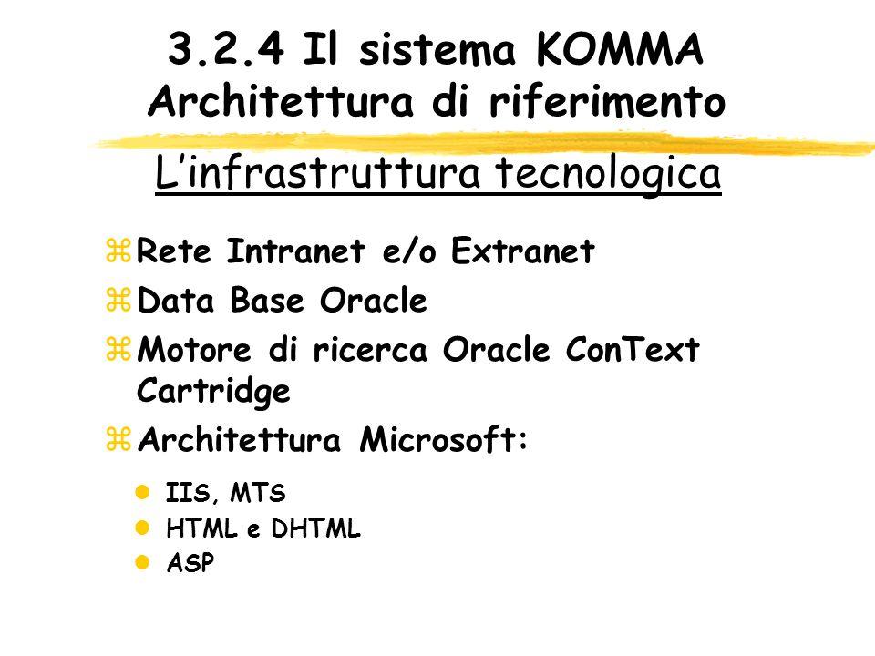 3.2.4 Il sistema KOMMA Architettura di riferimento