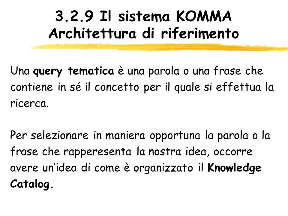 3.2.9 Il sistema KOMMA Architettura di riferimento