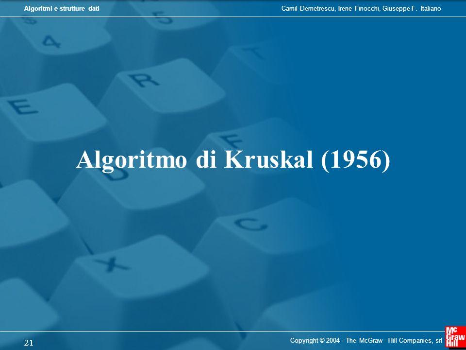 Algoritmo di Kruskal (1956)