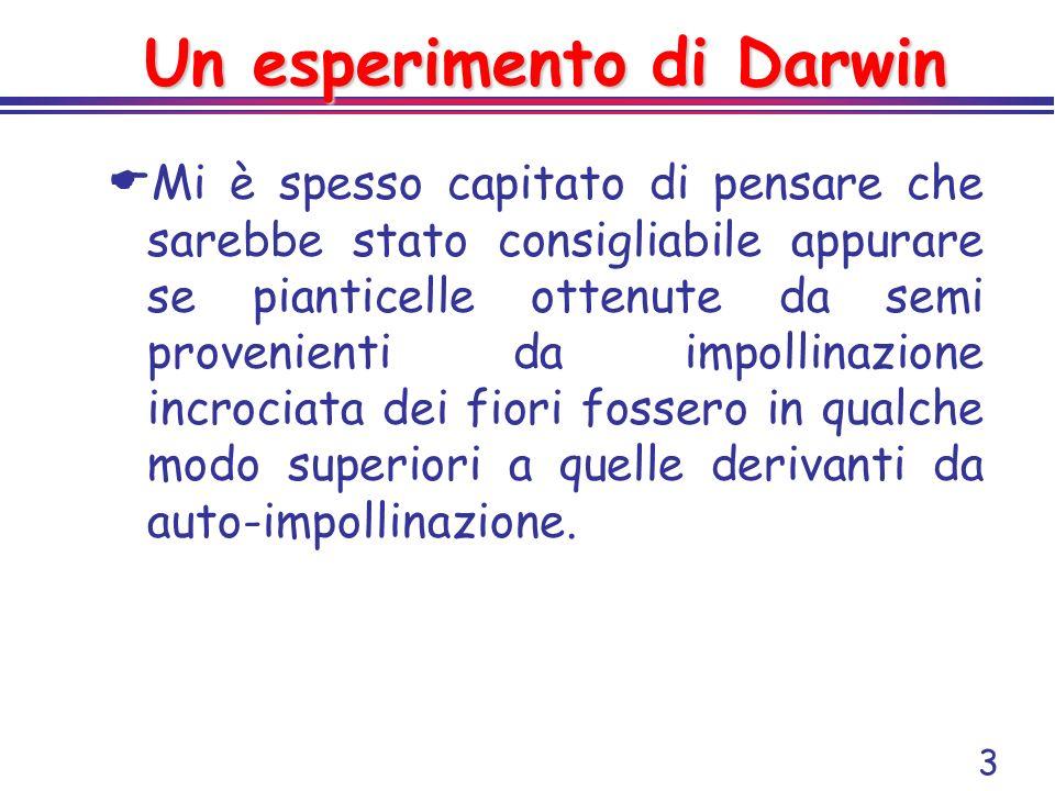 Un esperimento di Darwin