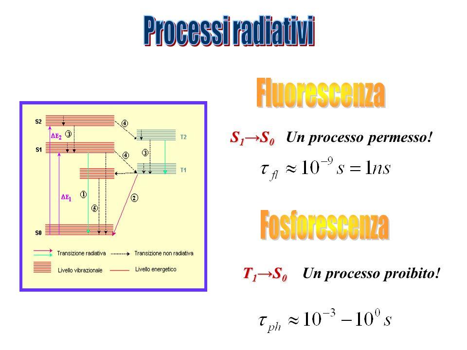 Processi radiativi Fluorescenza Fosforescenza