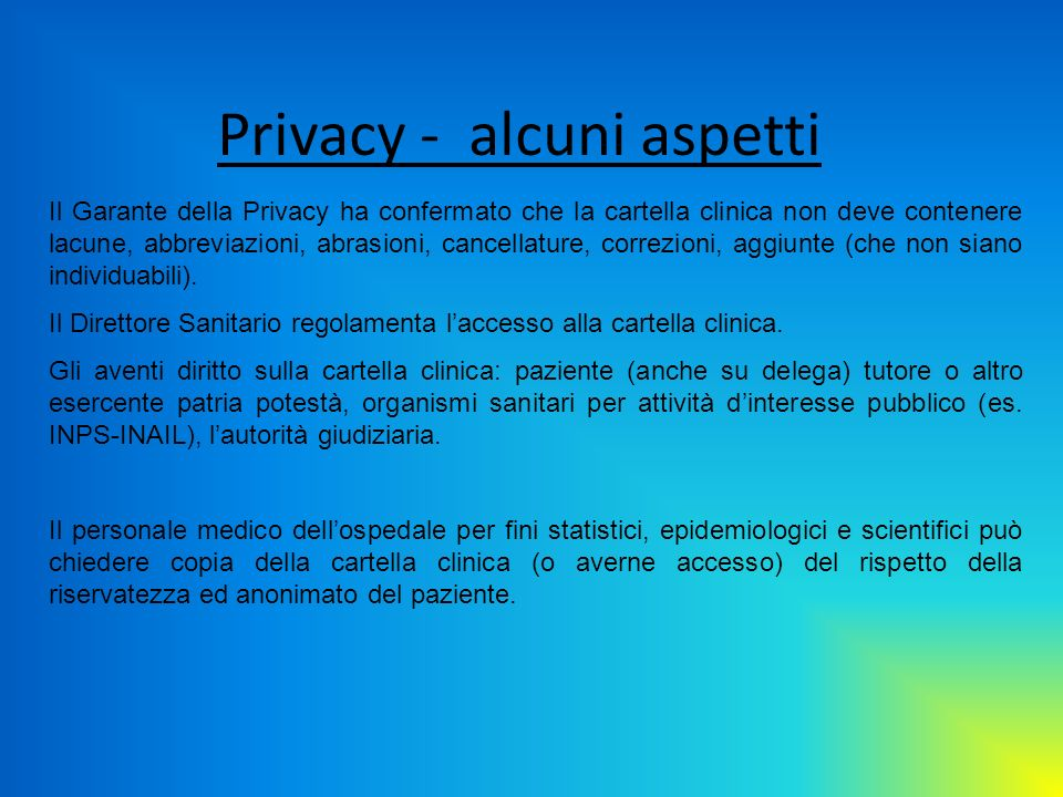 Privacy - alcuni aspetti