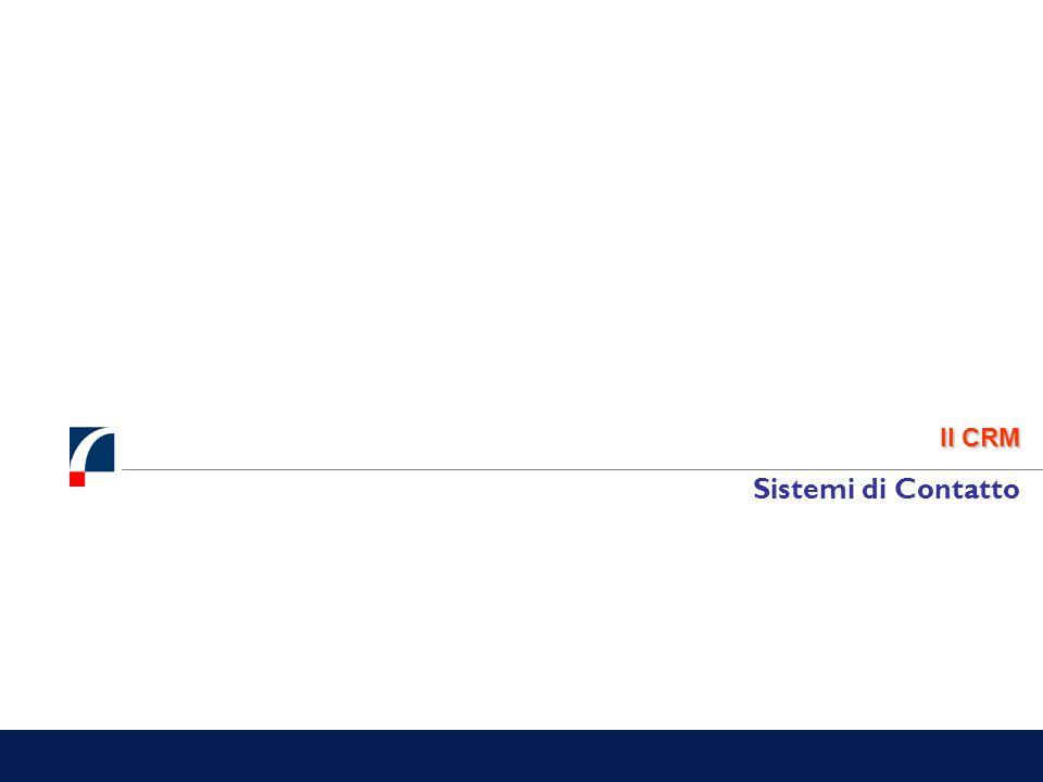 Il CRM Sistemi di Contatto