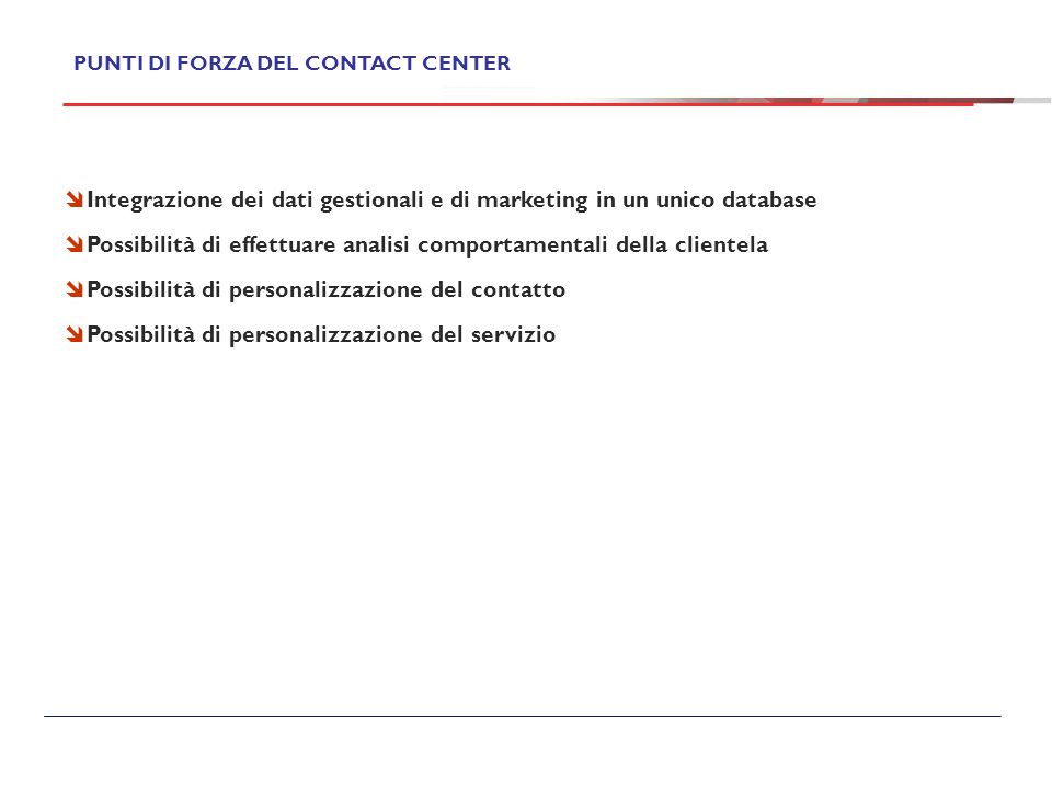 Integrazione dei dati gestionali e di marketing in un unico database
