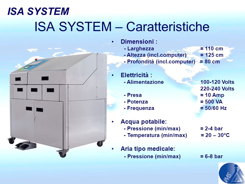 ISA SYSTEM – Caratteristiche