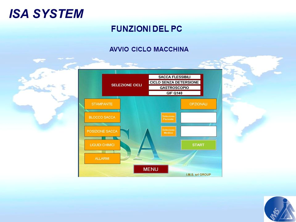 ISA SYSTEM FUNZIONI DEL PC AVVIO CICLO MACCHINA