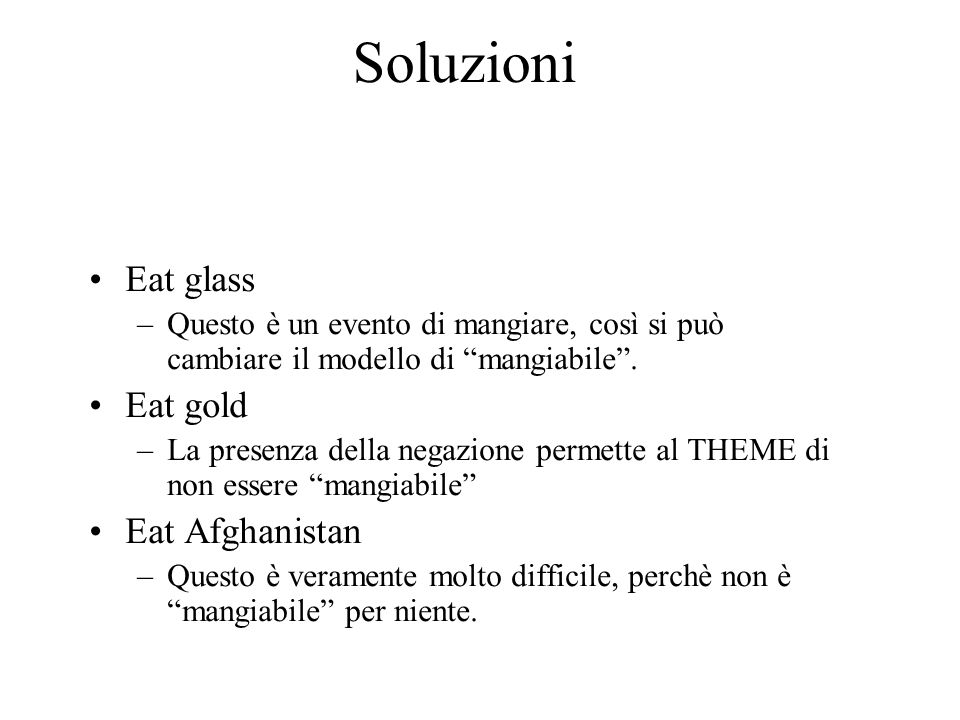 Soluzioni Eat glass Eat gold Eat Afghanistan