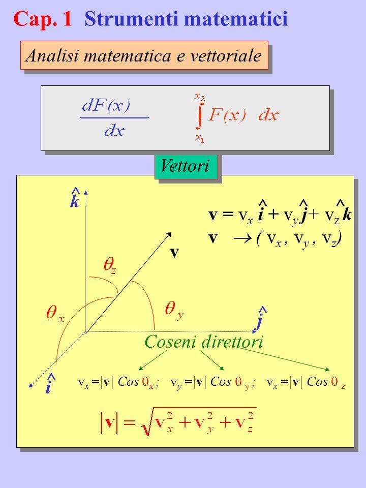 Cap. 1 Strumenti matematici