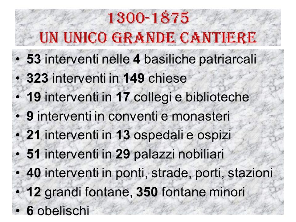 1300-1875 Un unico grande cantiere