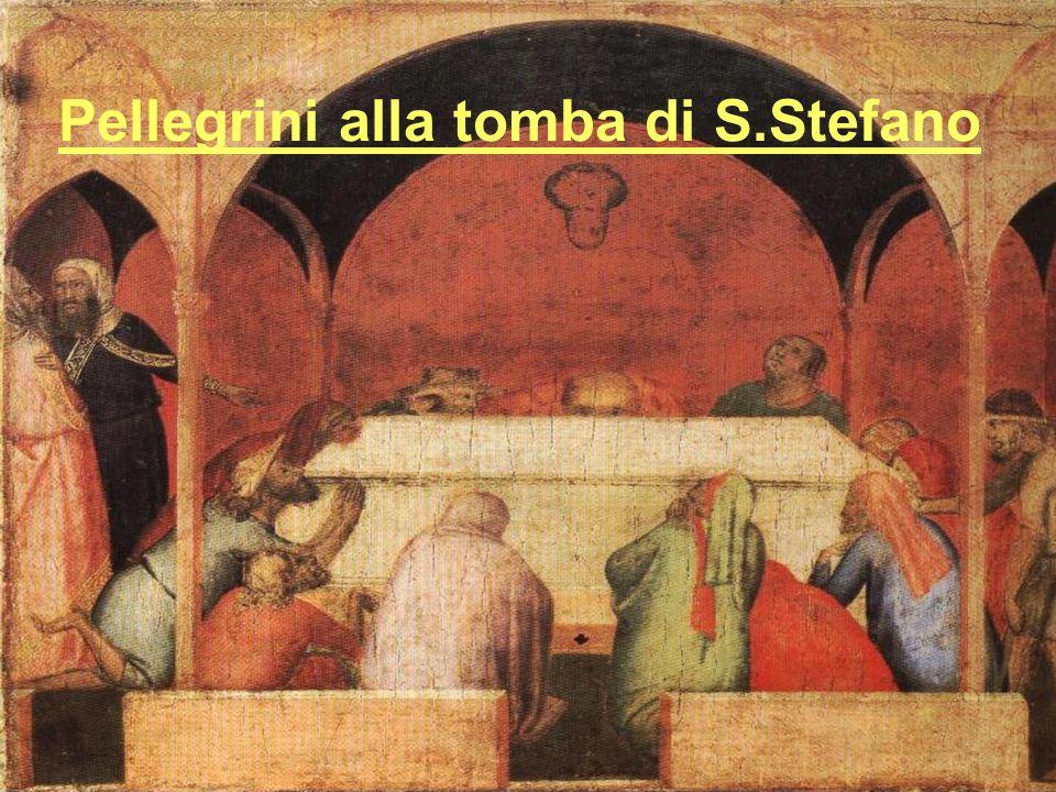 Pellegrini alla tomba di S.Stefano