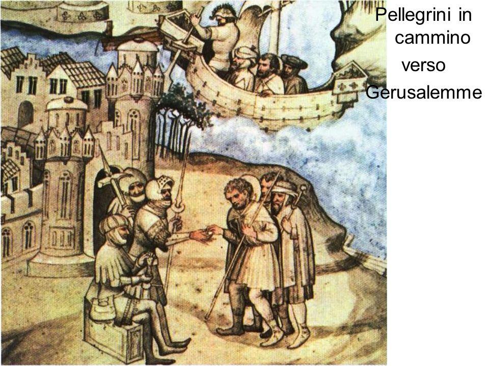 Pellegrini in cammino verso Gerusalemme