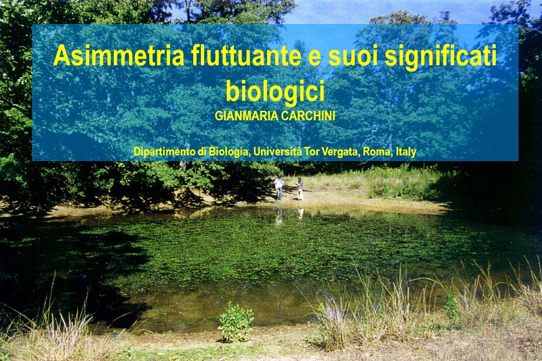 Asimmetria fluttuante e suoi significati biologici