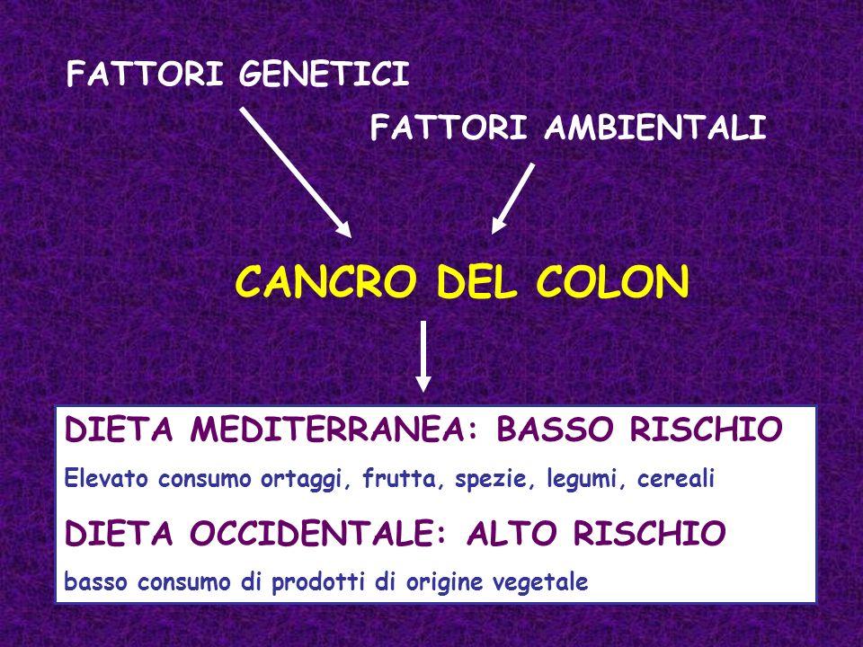 CANCRO DEL COLON FATTORI GENETICI FATTORI AMBIENTALI