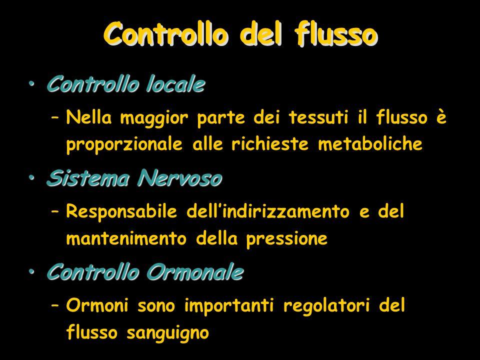 Controllo del flusso Controllo locale Sistema Nervoso