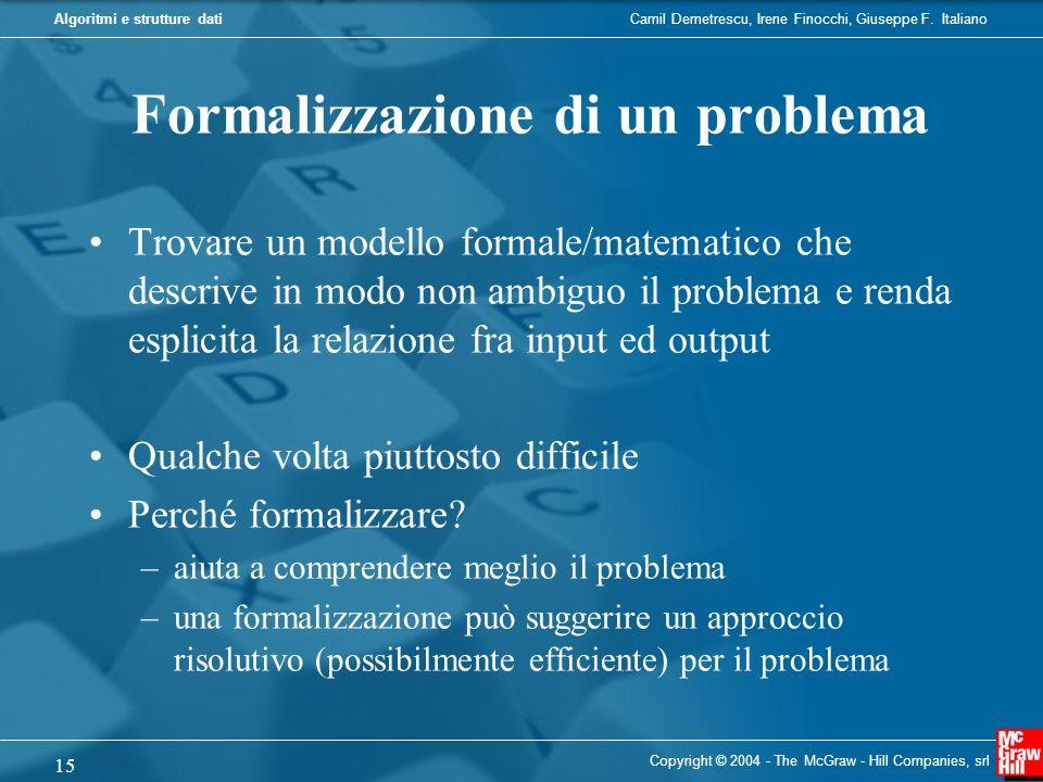 Formalizzazione di un problema