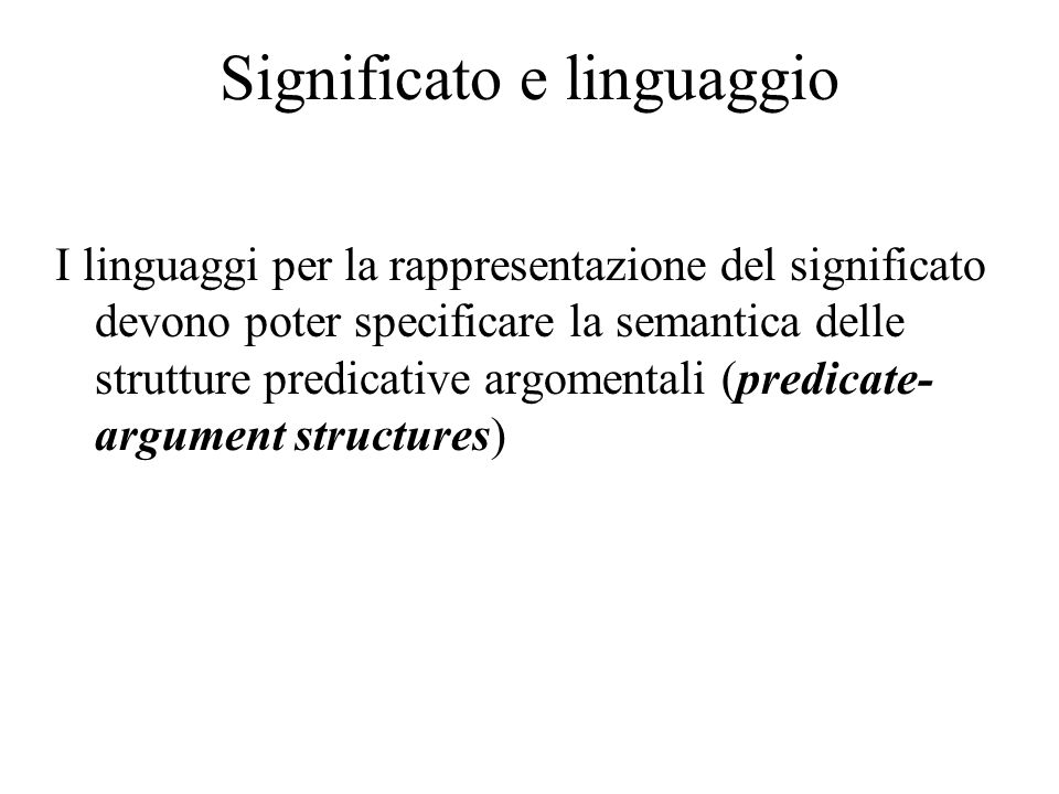 Significato e linguaggio