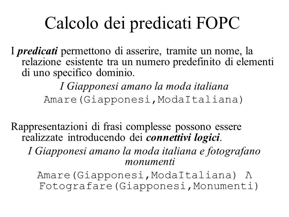 Calcolo dei predicati FOPC
