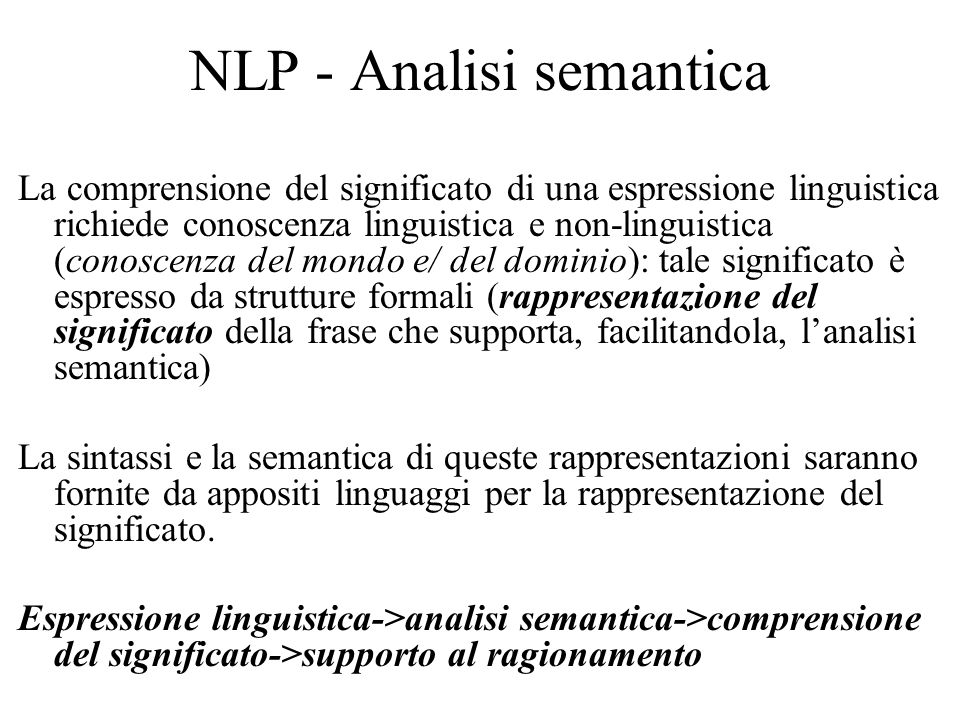NLP - Analisi semantica