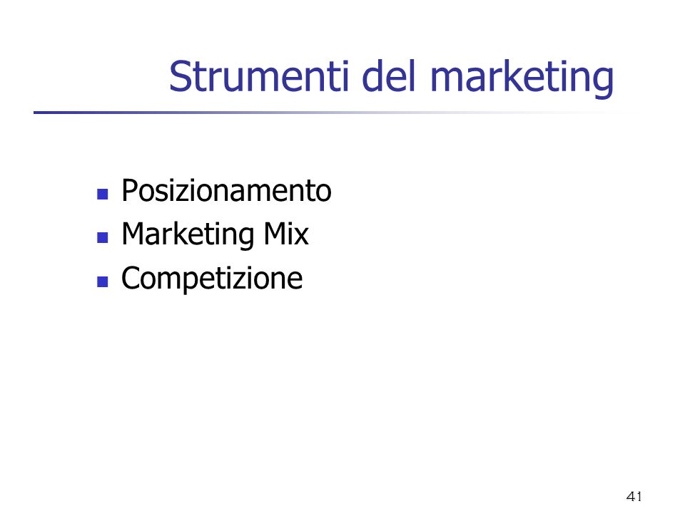 Strumenti del marketing