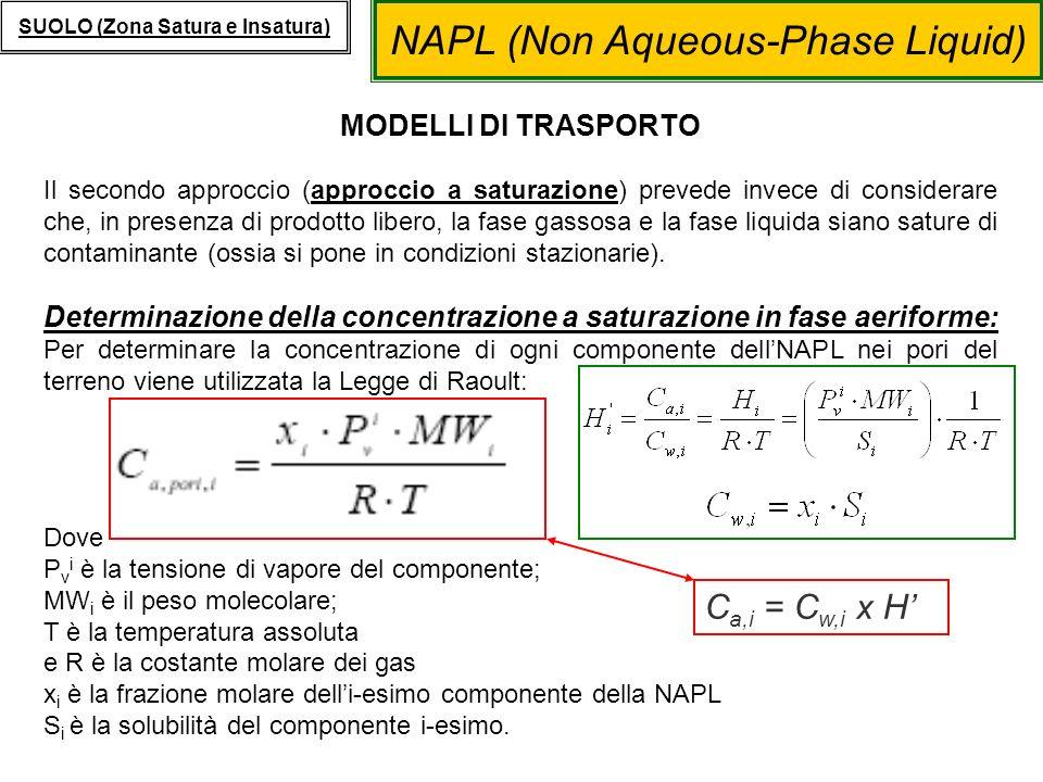 Determinazione della concentrazione a saturazione in fase aeriforme: