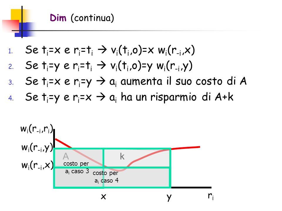 Se ti=x e ri=ti  vi(ti,o)=x wi(r-i,x)