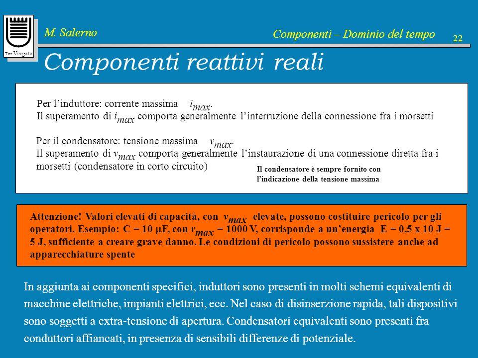 Componenti reattivi reali