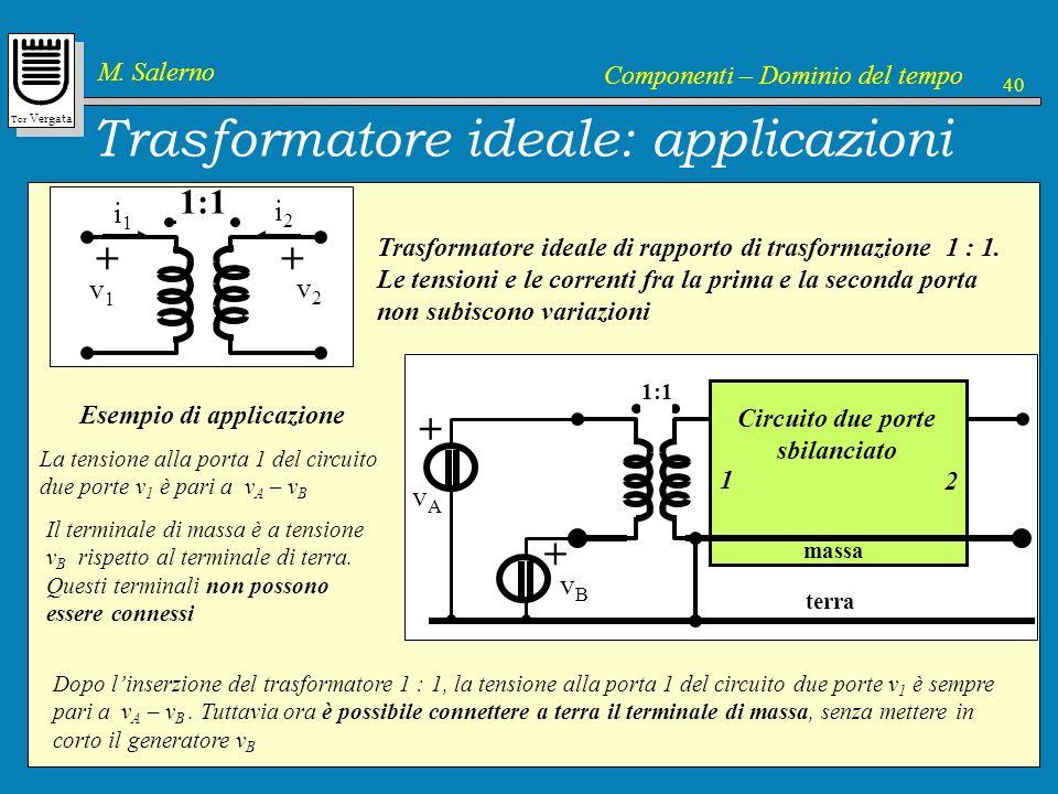 Trasformatore ideale: applicazioni