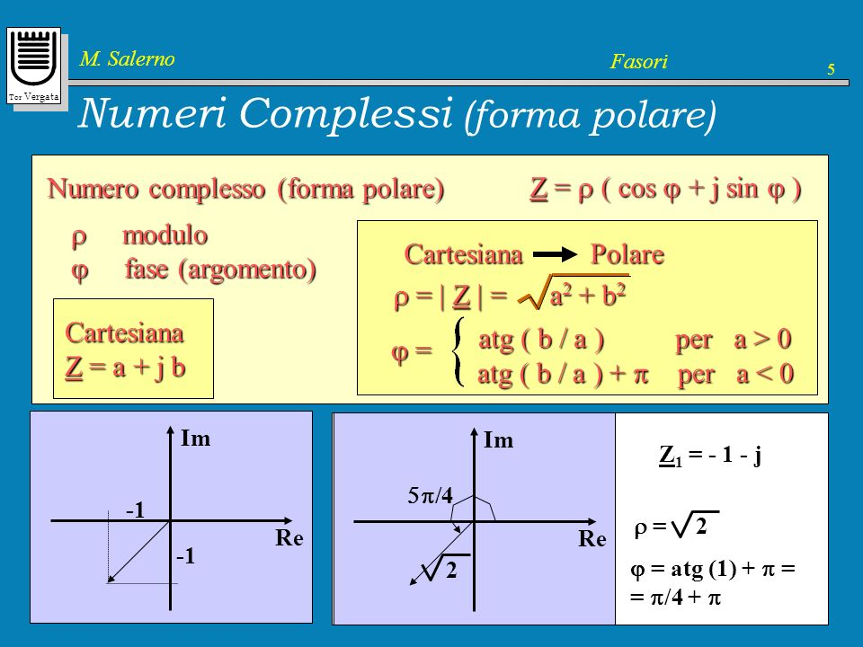Numeri Complessi (forma polare)