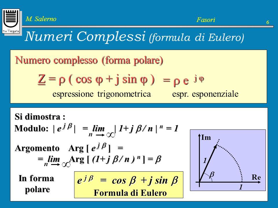Numeri Complessi (formula di Eulero)
